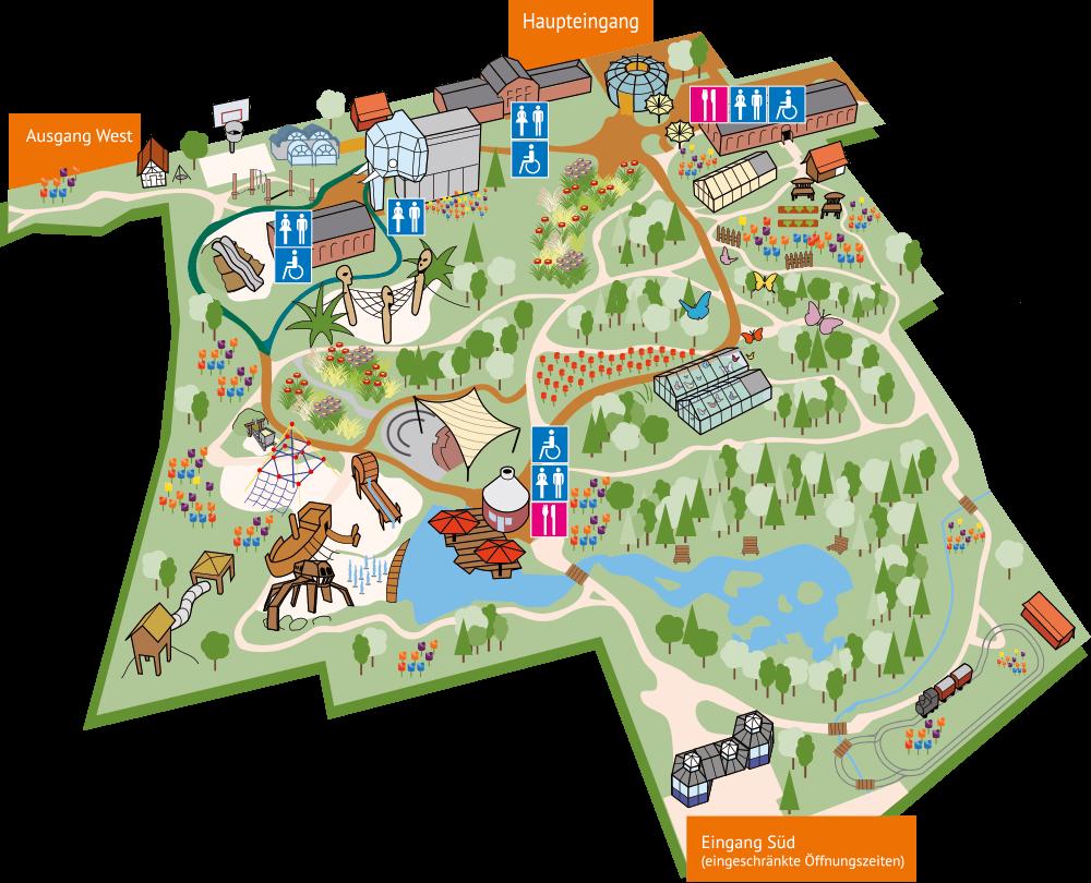 Maximilianpark Hamm Parkplan
