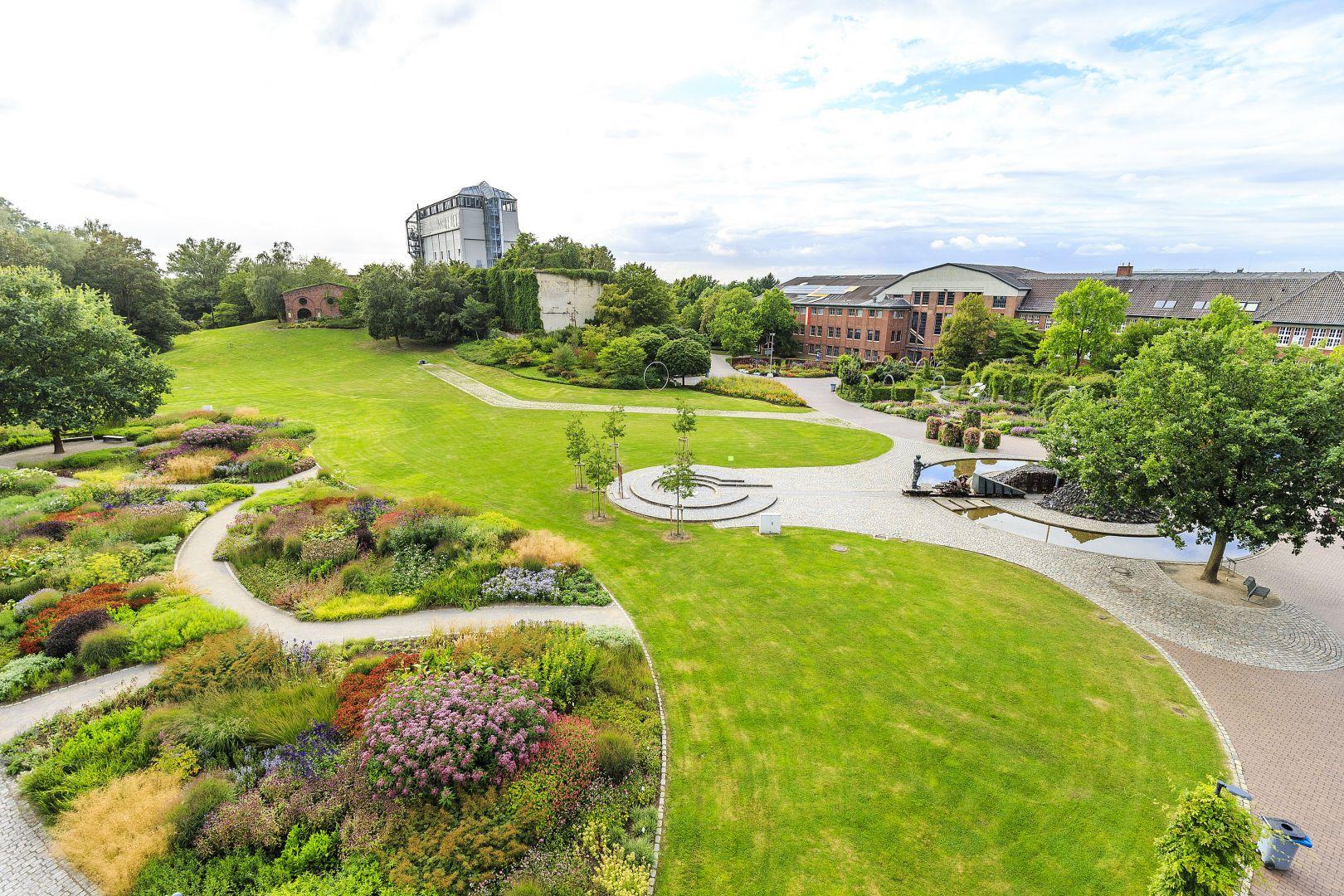 Blick auf Grünanlagen des Maximilianpark Hamm