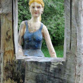 Aussichten | Holzskulpturen von Roger Löcherbach